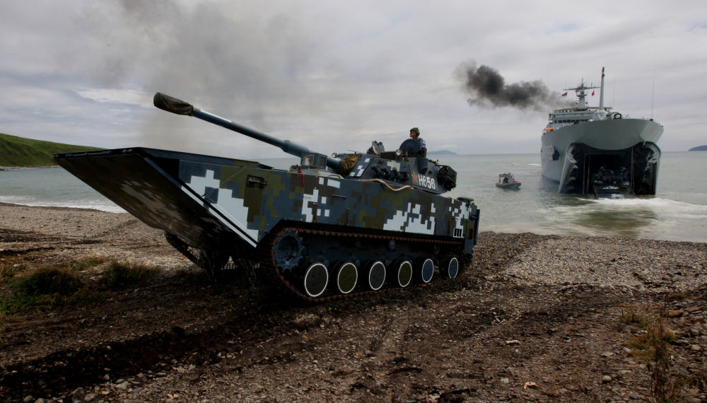 Exercices militaires sino-russes: un débarquement naval brillant