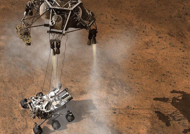 Atterrissage du rover américain Curiosity sur Mars