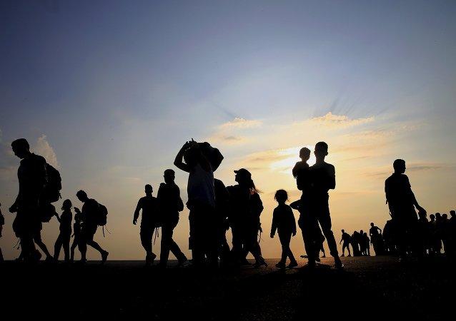 Des réfugiés syriens