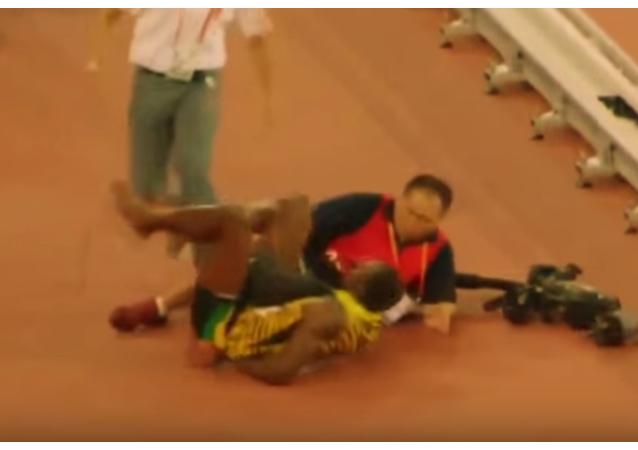 Usain Bolt renversé par un gyropode