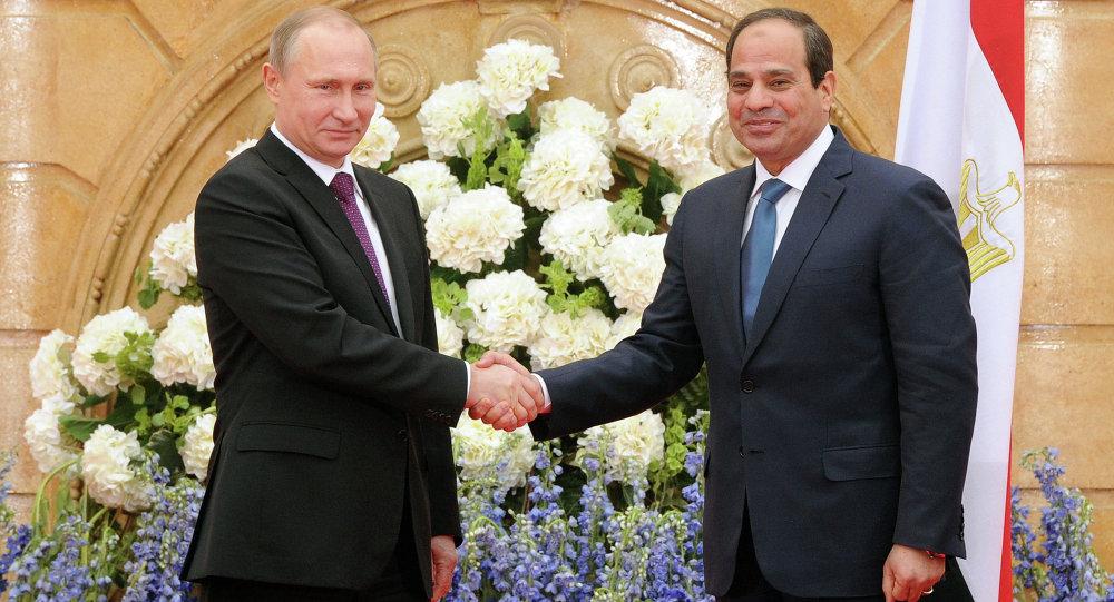 Le chef de l'Etat égyptien Abdel Fattah al-Sissi avec son homologue russe Vladimir Poutine