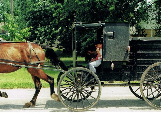 Chariot avec enfant