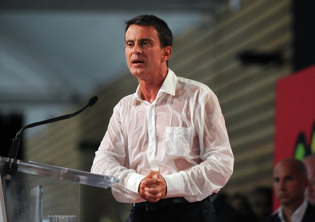 Manuel Valls à l'université d'été du PS à La Rochelle, 30 août