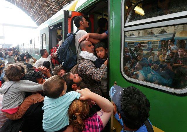 Affrontements dans la gare de Budapest