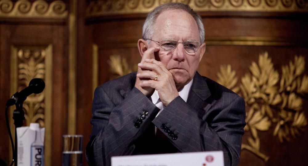 Wolfgang Schauble, ministre allemand des Finances