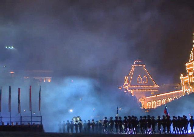 Russie : festival de musique militaire à Moscou