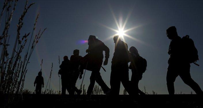 Des migrants en Hongrie