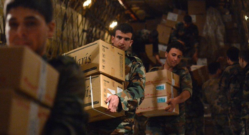 Avion russe transportant de l'aide humanitaire en Syrie