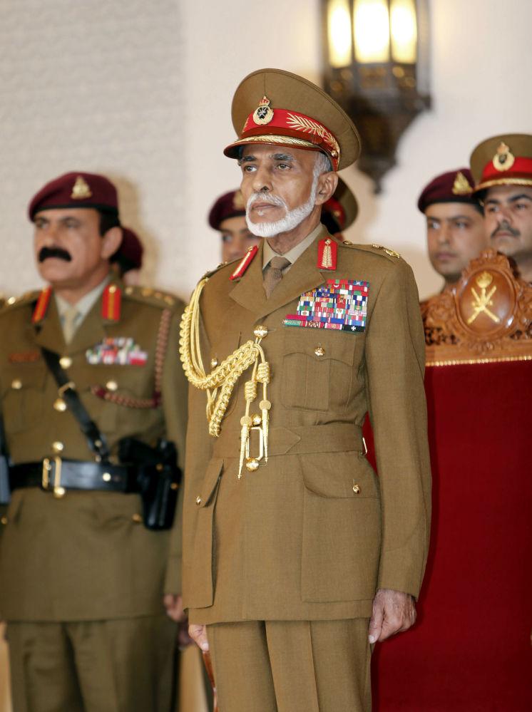 Le sultan d'Oman Qabus