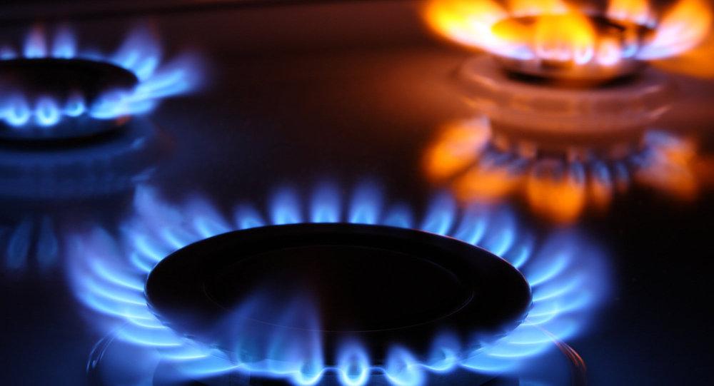 Cuisinière à gaz. Image d'illustration