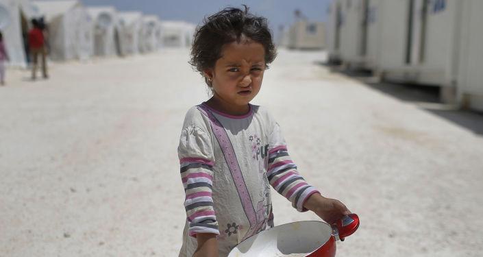 Une réfugiée syrienne