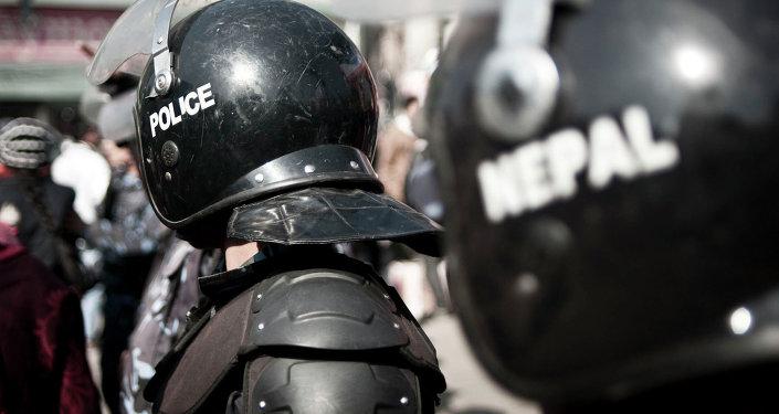 Policiers népalais