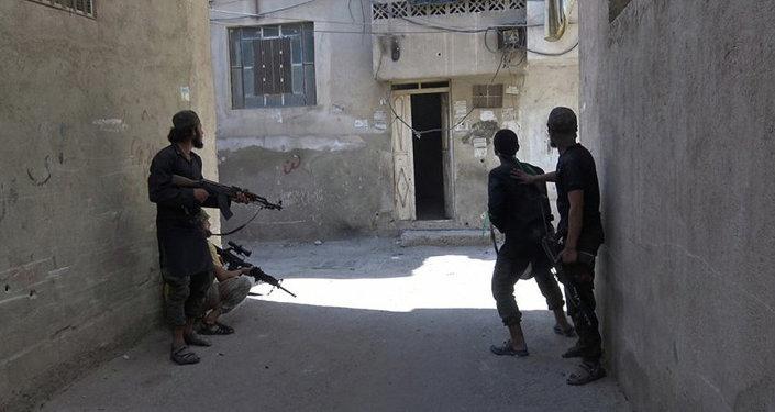 Des combattants du groupe terroriste Etat islamique en Syrie