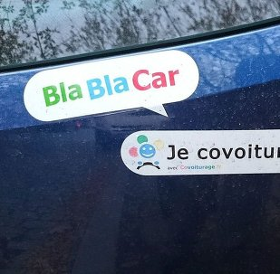 BlaBlaCar sticker on a car