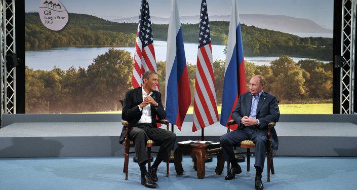 Vladimir Poutine et Barack Obmama