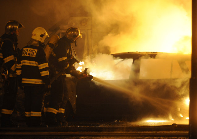 Pompiers à Prague