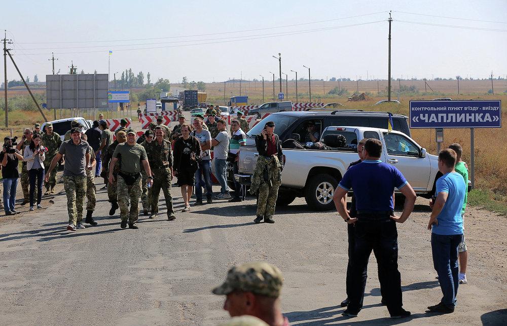 Le blocus alimentaire en Crimée