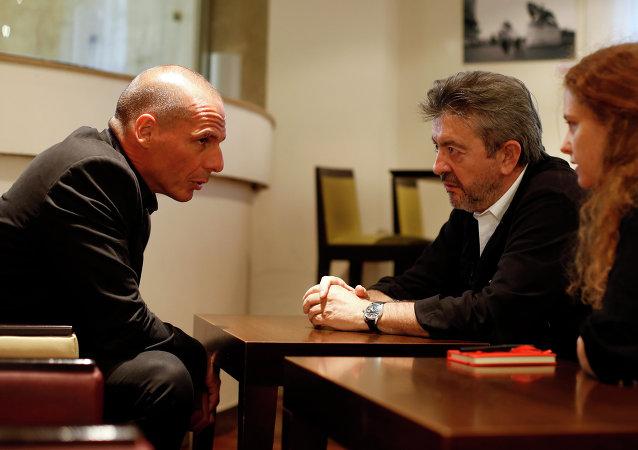 Yannis Varoufakis et Jean-Luc Mélenchon