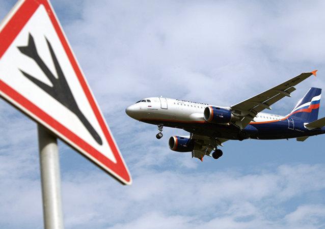 L'avion de ligne d'Aeroflot