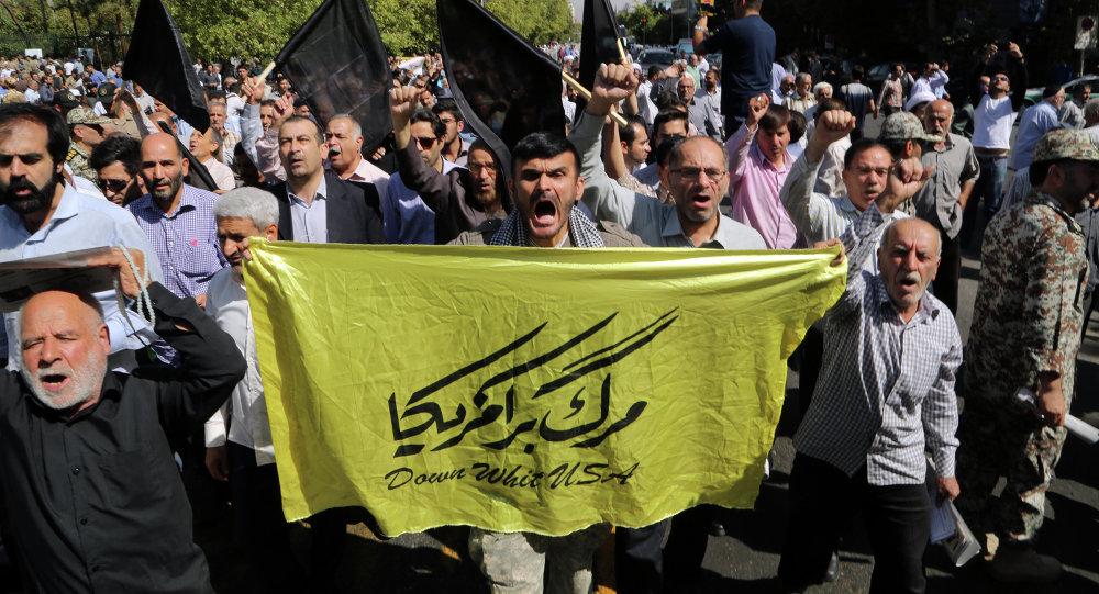 manifestations anti-saoudiennes à Téhéran