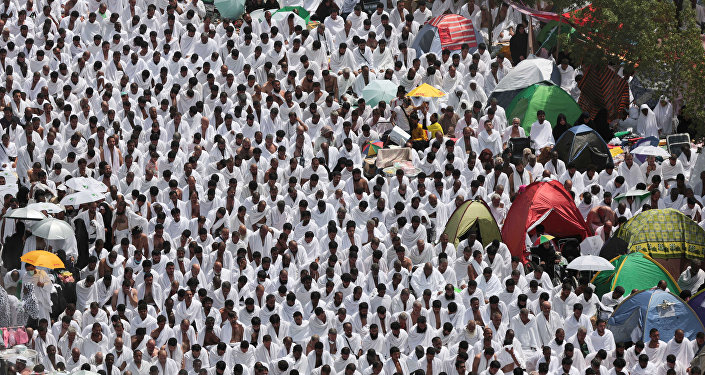 Des pélerins musulmans à La Mecque, 23 septembre 2015.