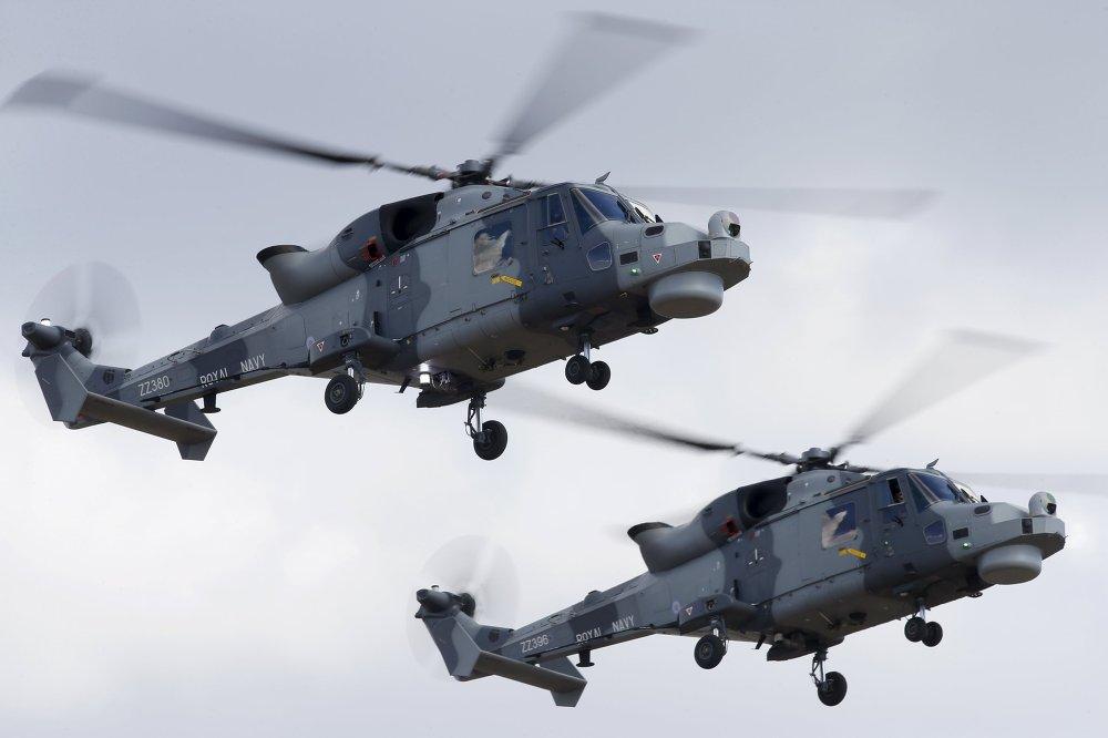 Hélicoptères BlackCat des forces aéronavales britanniques