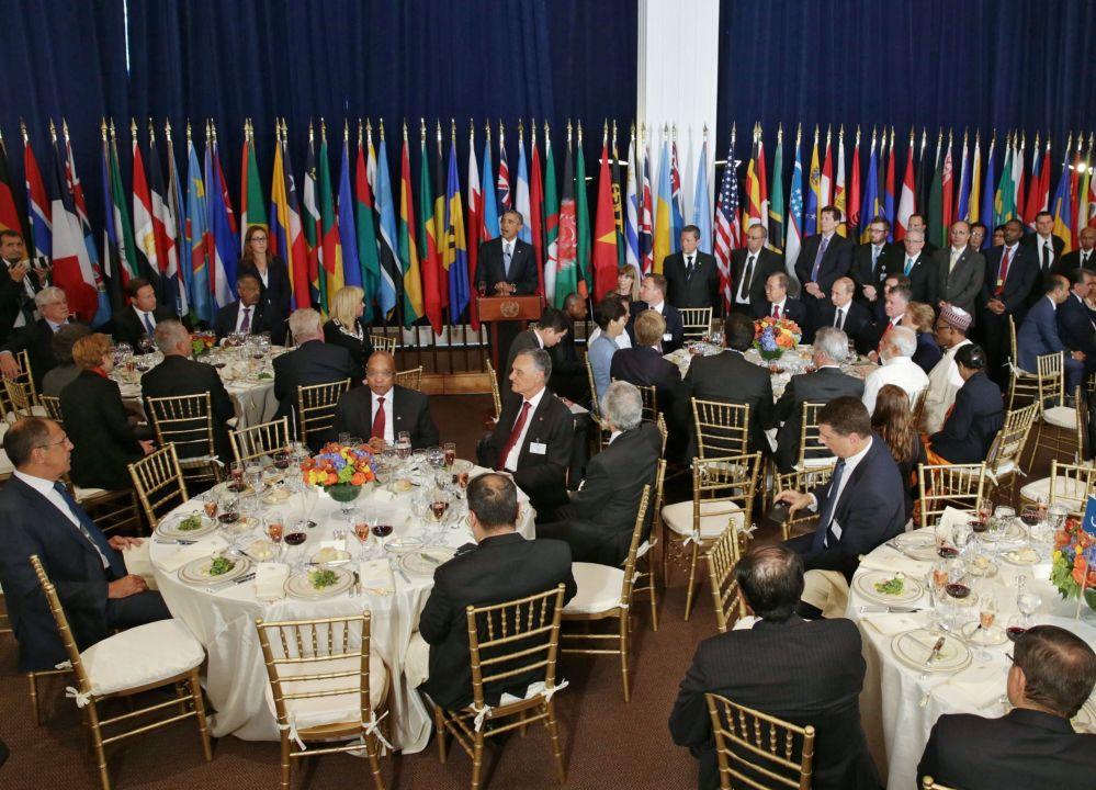 Les délégations des participants à la 70e session de l'Assemblée générale de l'Onu ont été invitées au déjeuner au nom du secrétaire général des Nations unies Ban Ki-moon