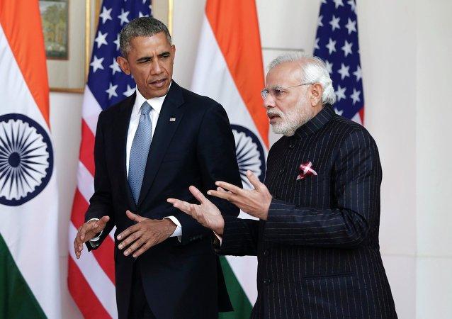 Barack Obama et Narendra Modi