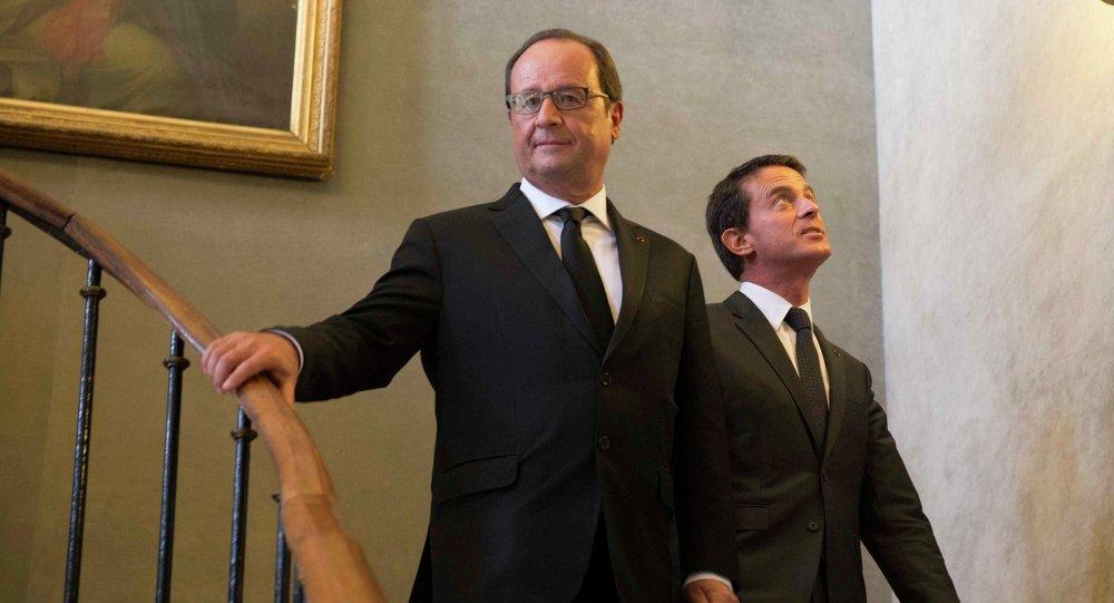 Francois Hollande et Manuel Valls. Archive photo