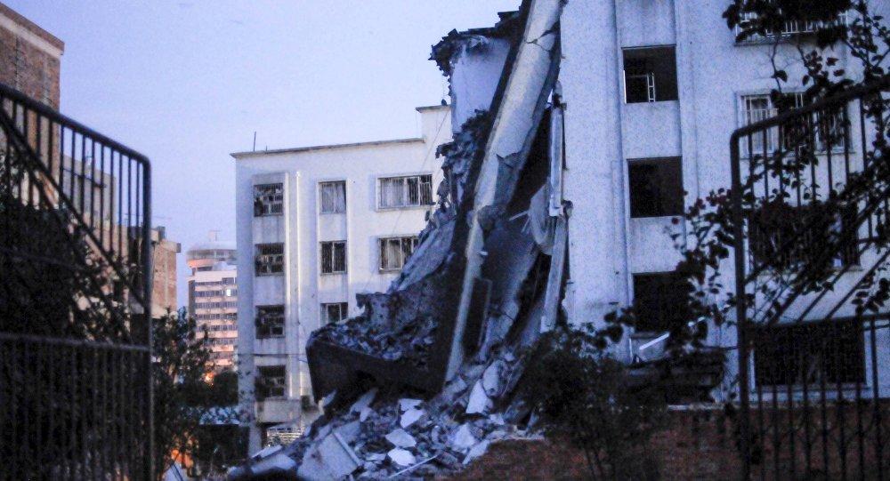Explosions en série à Liuzhou, China, Septembre 30, 2015.