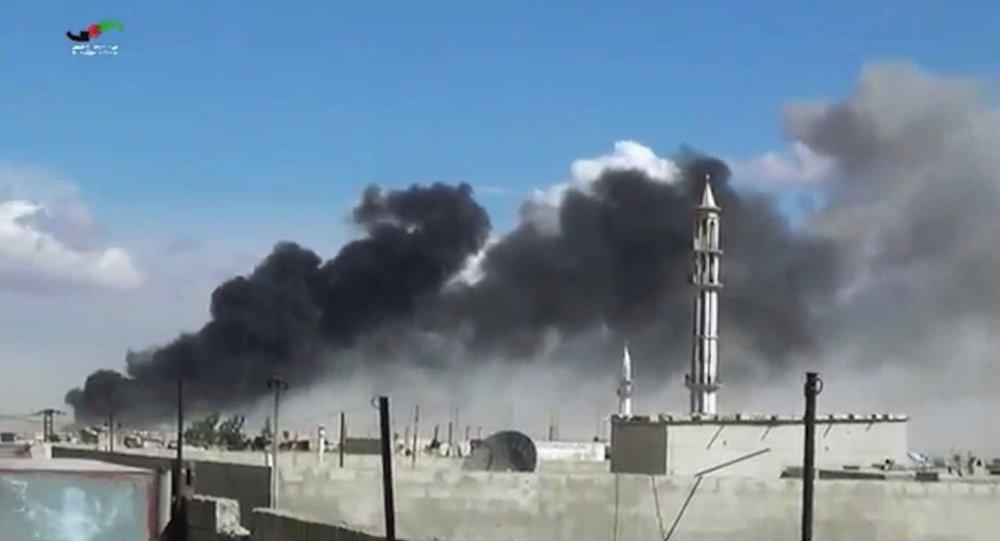Les frappes russes en Syrie, Sept. 30, 2015.