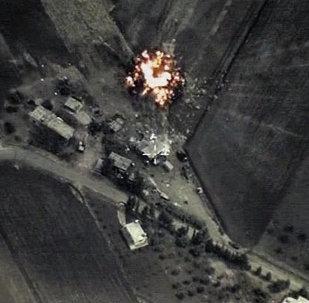 Frappes russes contre l'EI en Syrie. Capture d'écran