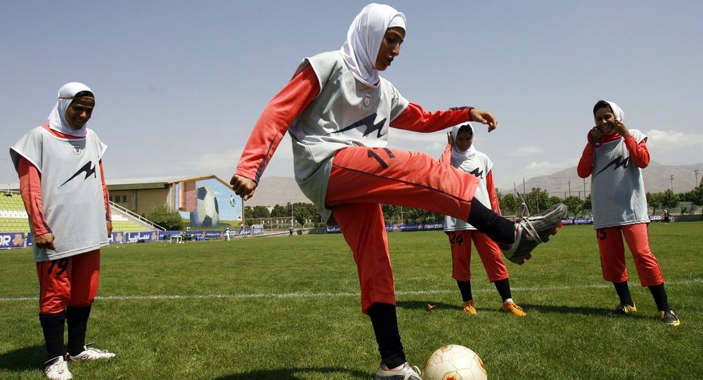L'équipe de football iranienne. Archive photo