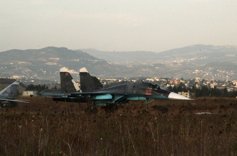 L'aviation d'attaque russe à l'aérodrome syrien de Hmeimim