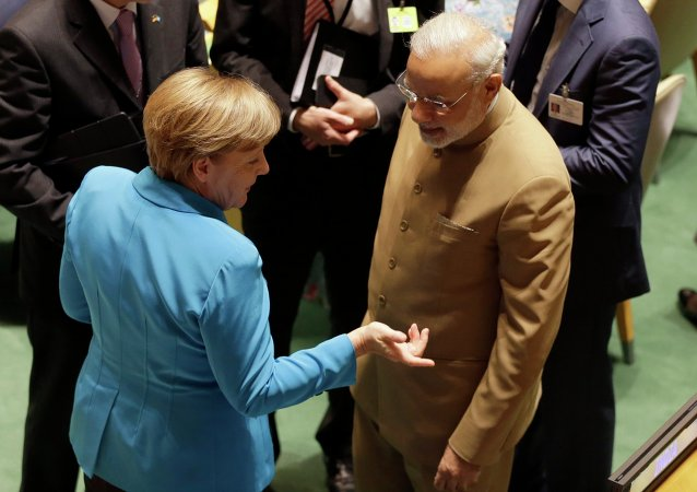 Angela Merkel et Narendra Modi. Archive photo