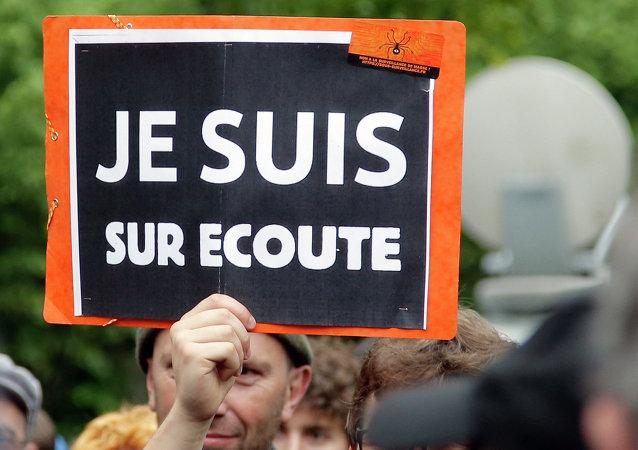 Manifestation contre la loi renseignement à Paris