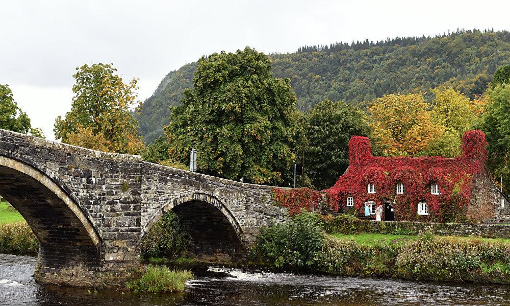 Le salon de thé Tu Hwnt I'r Bont à Llanrwst, Pays de Galles