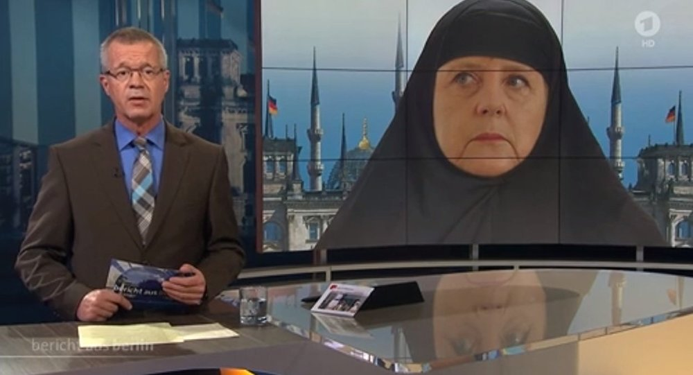 merkel en burqa une cha ne tv allemande sous le feu des critiques sputnik france. Black Bedroom Furniture Sets. Home Design Ideas