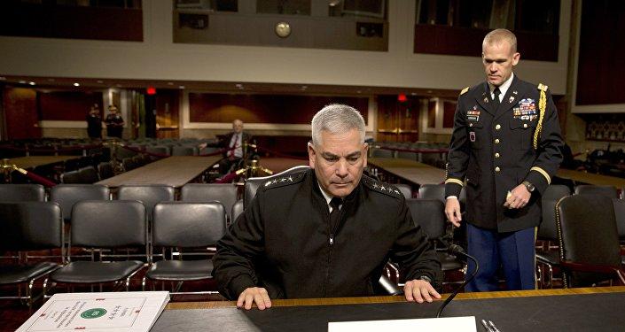 Général John Campbell, commandant en chef des troupes US et de l'Otan en Afghanistan