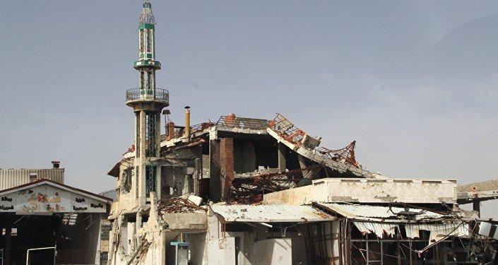 Syrie, Homs, mosquée détruite. Archive photo