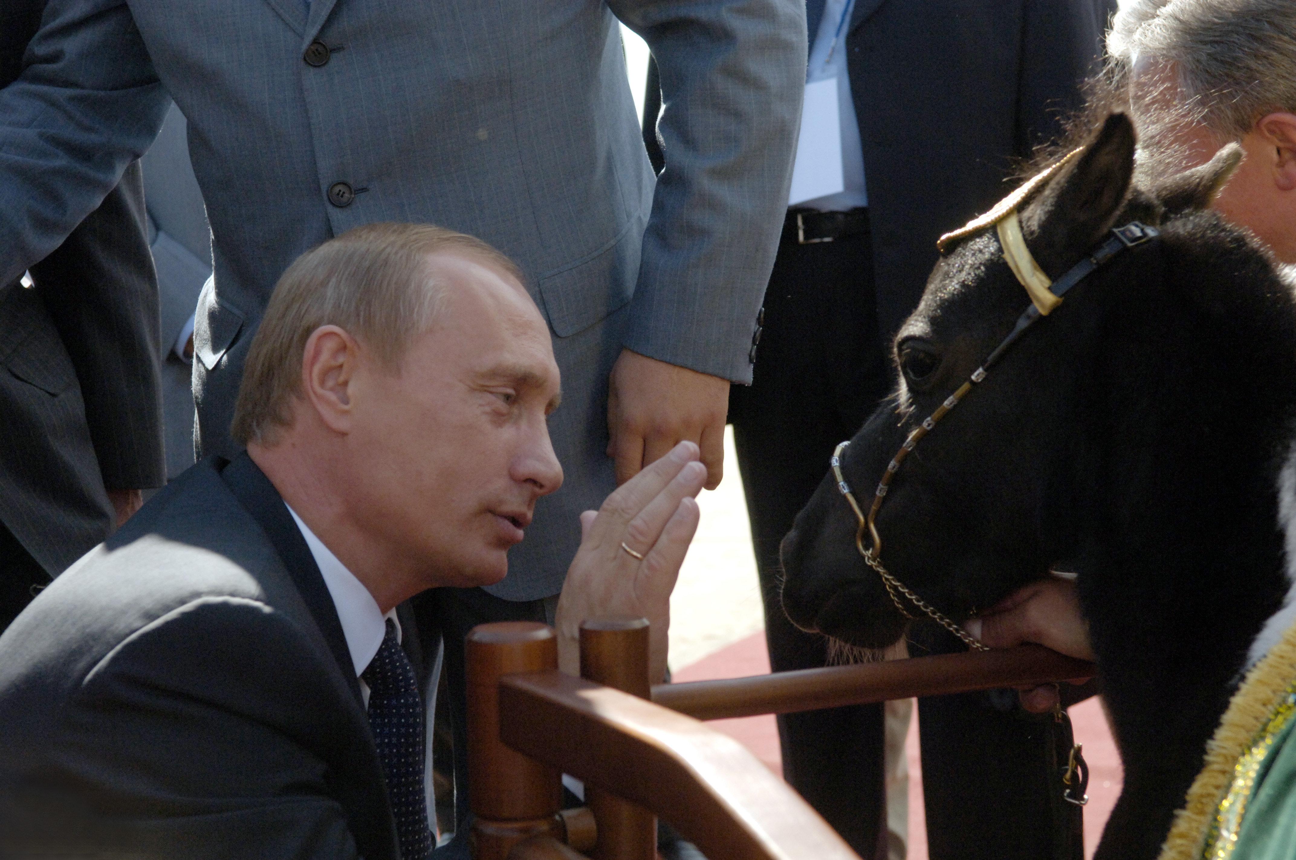Vladimir Poutine et ses cadeaux vivants