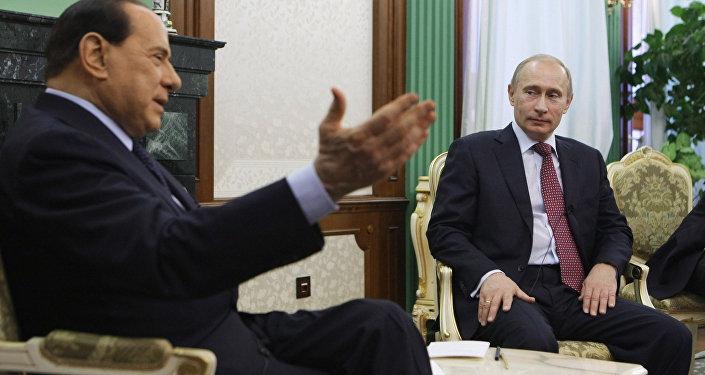 Silvio Berlusconi et Vladimir Poutine