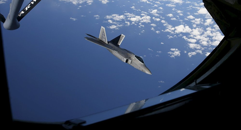 A F-22 Raptor fighter