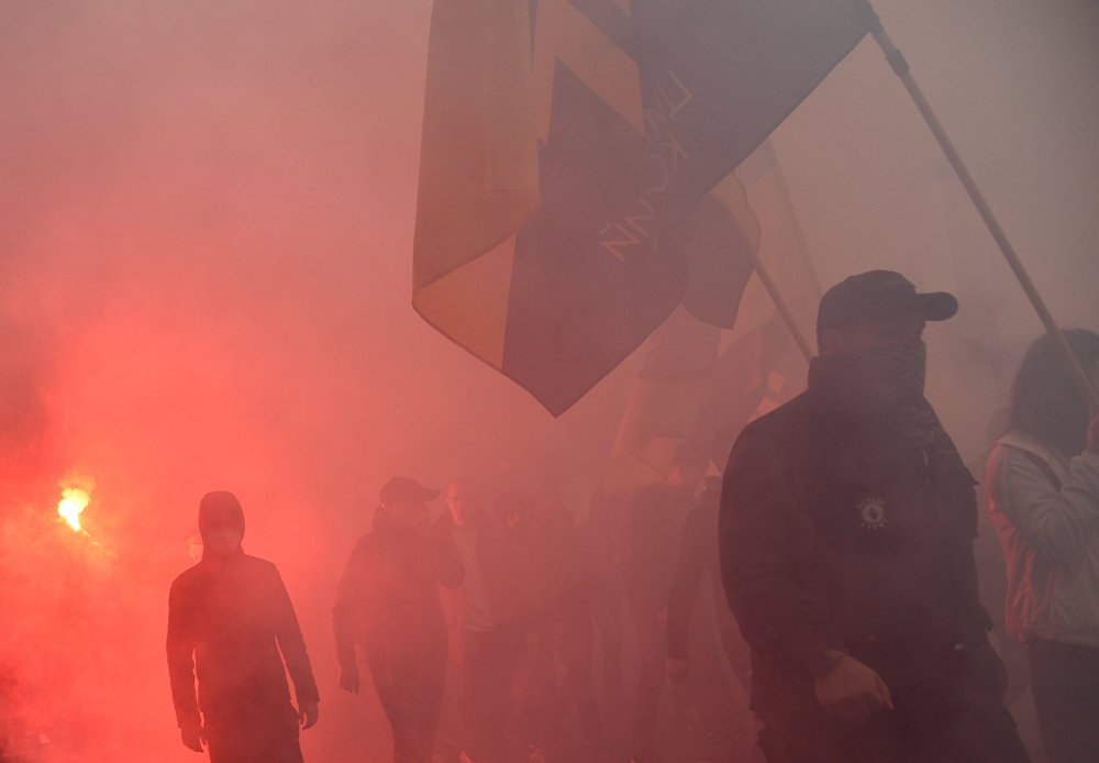 Ukraine: les nationalistes manifestent