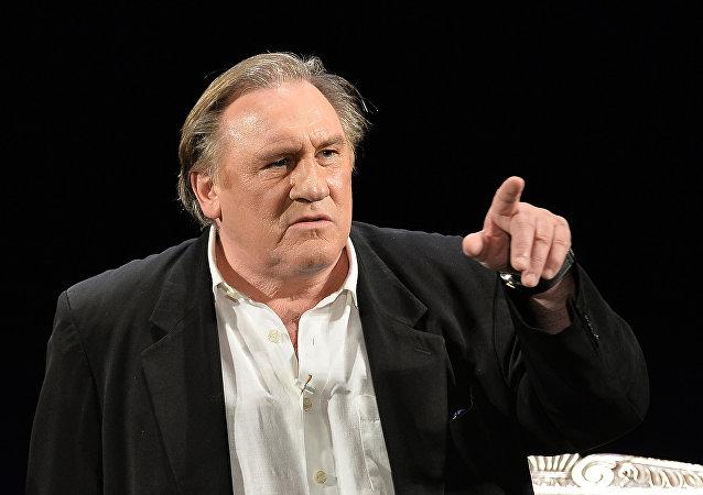 Gérard Depardieu dans la pièce La Musica Deuxième au Théâtre des Variétes de Moscou