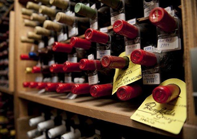 Bouteilles de vin italien