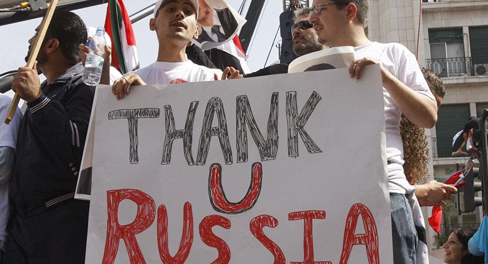 Les Syriens remercient la Russie