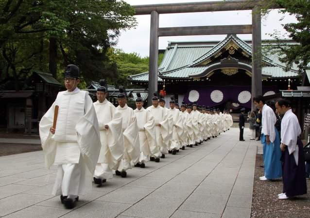 Le sanctuaire de Yasukuni, Japon. Archive photo