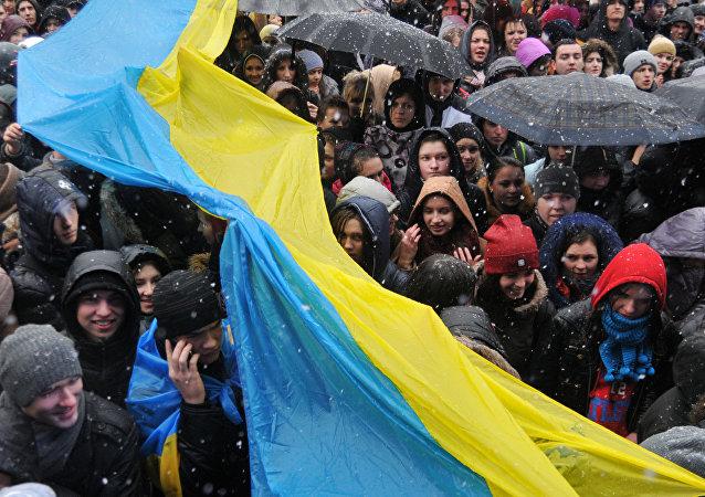 Des Polonais revendiquent des terres ukrainiennes. Image d'illustration