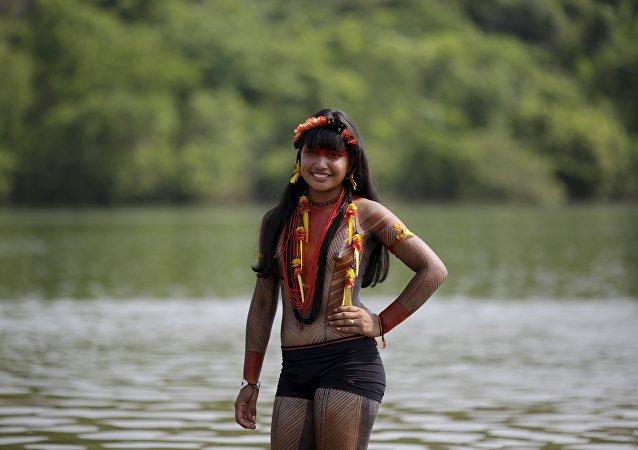 Les magnifiques aborigènes aux Jeux mondiaux des peuples autochtones du Brésil